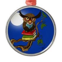 Mr. Books Metal Ornament