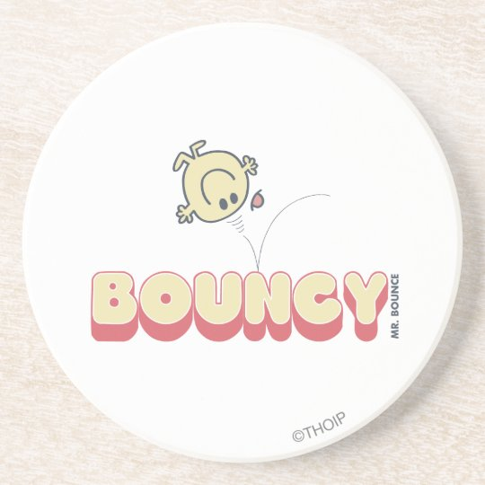 Mr. Bounce Bouncing On His Head Drink Coaster