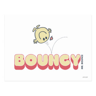 Mr. Bounce Bouncing On His Head Postcard