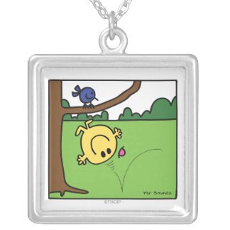 Mr. Bounce In The Park Square Pendant Necklace