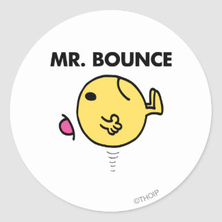 Mr. Bounce | Unhappy Bouncing Classic Round Sticker