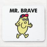 Mr. Brave Waving Hello Mouse Pad
