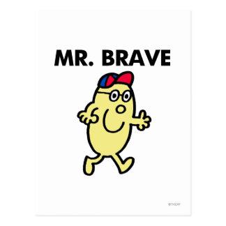 Mr. Brave Waving Hello Postcard