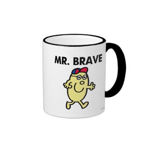 Mr. Brave Waving Hello Ringer Coffee Mug