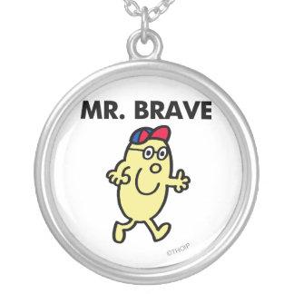 Mr. Brave Waving Hello Round Pendant Necklace