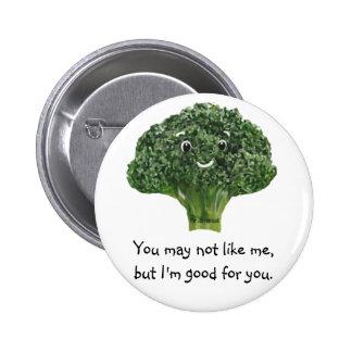 Mr.Broccoli Pinback Button