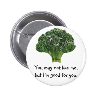 Mr.Broccoli Pinback Buttons