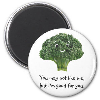 Mr.Broccoli 2 Inch Round Magnet