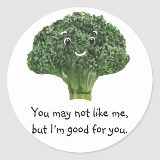 Mr.Broccoli Classic Round Sticker
