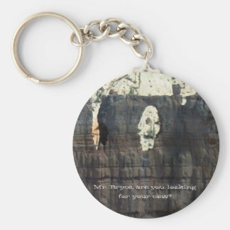 Mr. Bryce, are you looking for your cow? Basic Round Button Keychain