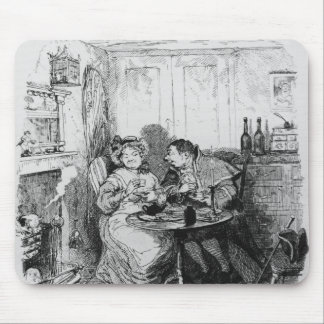 Mr Bumble and Mrs Corney taking tea Mouse Pad