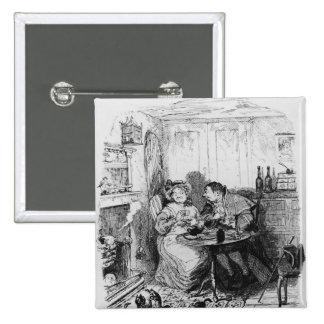 Mr Bumble and Mrs Corney taking tea Pinback Button