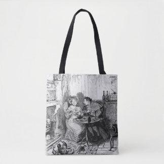 Mr Bumble and Mrs Corney taking tea Tote Bag