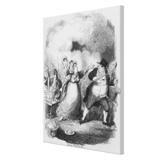 Mr Bumble degraded in the eyes of the paupers Canvas Print
