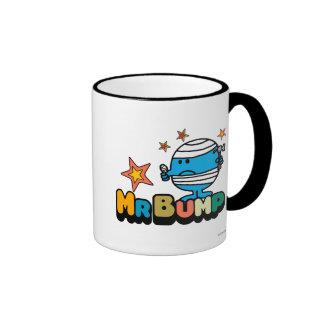 Mr. Bump | Bandaged Thumb & Stars Ringer Coffee Mug