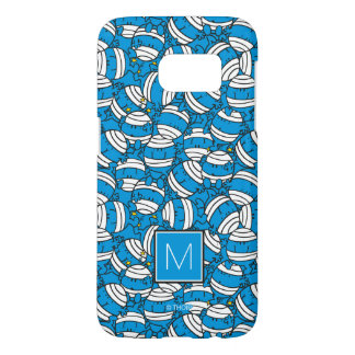 Mr Bump | Blue Confusion Pattern | Monogram Samsung Galaxy S7 Case