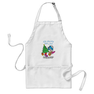 Mr. Bump Decorating A Christmas Tree Adult Apron