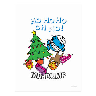 Mr. Bump Decorating A Christmas Tree Postcard