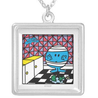 Mr. Bump | Kitchen Accident Square Pendant Necklace
