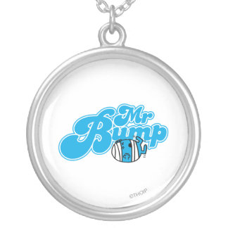 Mr Bump Logo 1 Silver Plated Necklace