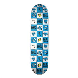 Mr Bump | Mosaic In Blue Pattern Skateboard Deck