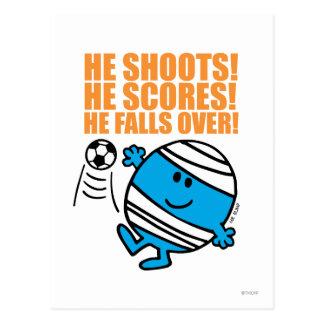 Mr. Bump Playing Soccer Postcard