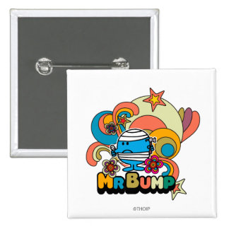 Mr. Bump   Psychedelic Thumb Injury Pinback Button