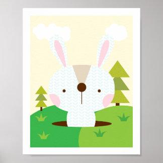 Mr Bunny - Woodland Friends Nursery Wall Art