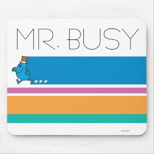 Mr Busy Classic 1 Mousepads