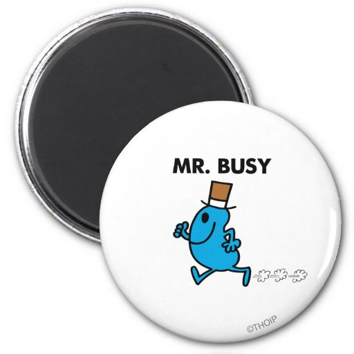 Mr. Busy Running Quickly 2 Inch Round Magnet