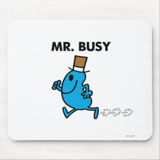 Mr. Busy Running Quickly Mouse Pad