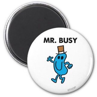 Mr. Busy Waving Hello 2 Inch Round Magnet