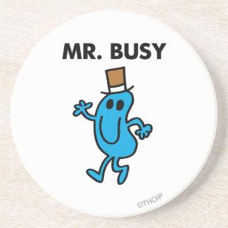 Mr. Busy Waving Hello Beverage Coasters