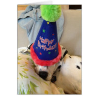 Mr. Buttons Birthday Card...Partied All Night Long