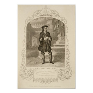 Mr C. Kean as Gloster, Act I Scene 1, in Richard I Poster
