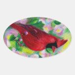 Mr. Cardinal Sticker