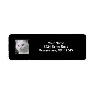 Mr. Cat Portrait Address Label