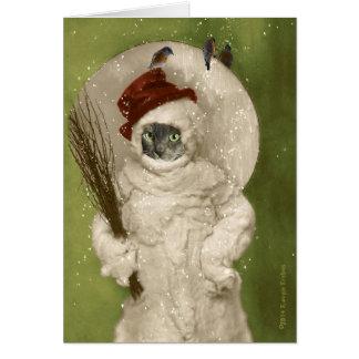 Mr. Cat the Snowman Card