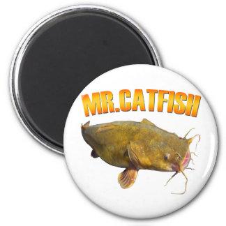 Mr Catfish fishing 2 Inch Round Magnet