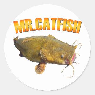 Mr Catfish fishing Classic Round Sticker