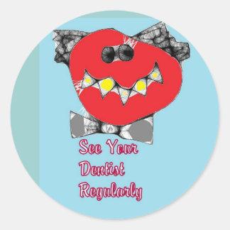 Mr. Cavity. Dentist stickers