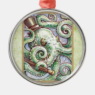 Mr Cephalopod Metal Ornament