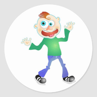 Mr Chat Classic Round Sticker