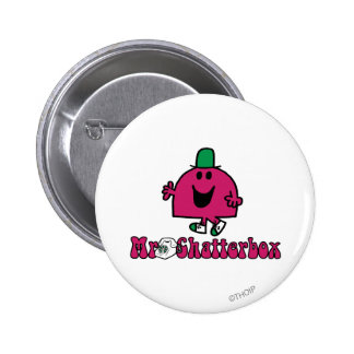 Mr. Chatterbox Logo & Telephone 2 Inch Round Button