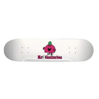 Mr. Chatterbox Logo & Telephone Skateboard