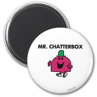 Mr. Chatterbox Waving Hello 2 Inch Round Magnet