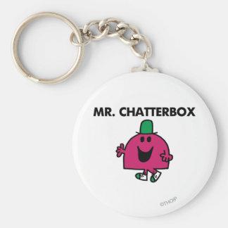 Mr. Chatterbox Waving Hello Basic Round Button Keychain