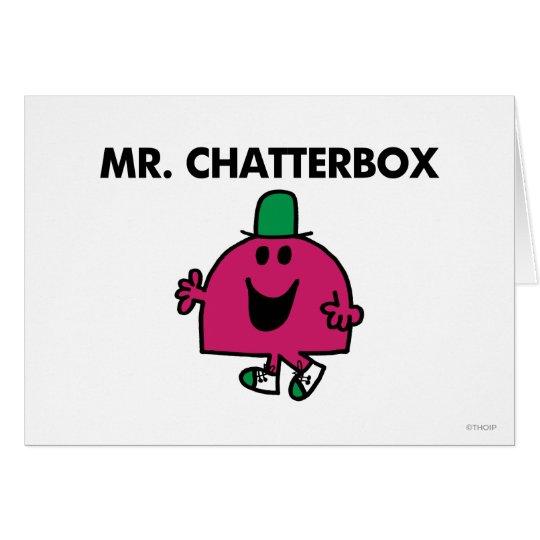 Mr. Chatterbox Waving Hello Card