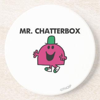 Mr. Chatterbox Waving Hello Beverage Coasters