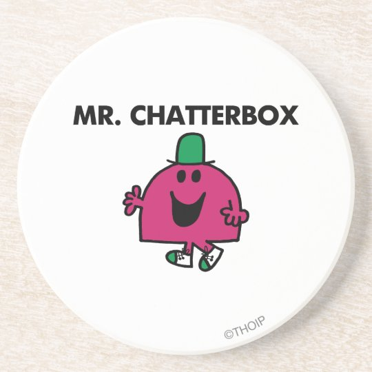 Mr. Chatterbox Waving Hello Drink Coaster